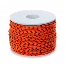 DYNEEMA  LINE SK75 - Ø 2,0 mm ORANGE - braided core -Breaking point 240 KG. 1m